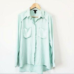 H&M mint blouse